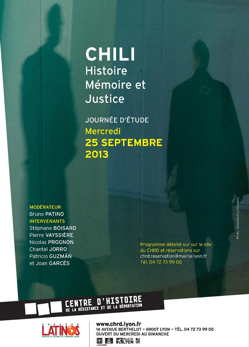 Chili, histoire, mémoire et justice : journée d'étude le 25 septembre au CHRD CHRD-Inscriptions800